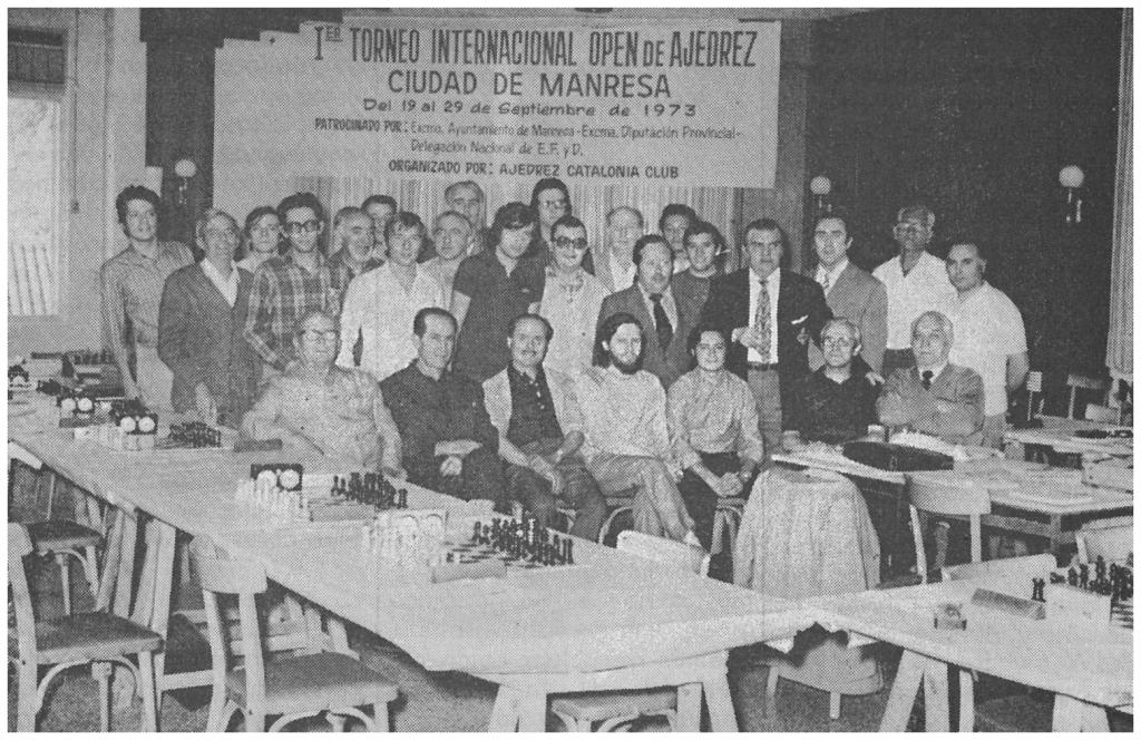 I Torneig Internacional d'Escacs Ciutat de Manresa 1973